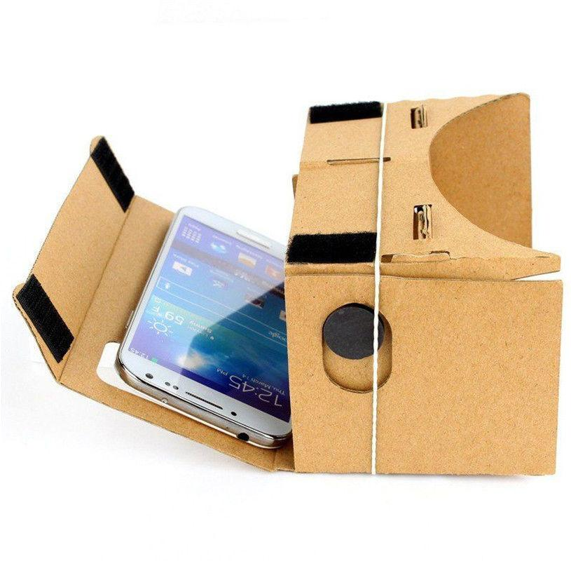 Cuffie fai-da-te Google Cardboard VR 3D realtà virtuale con cuffie NFC Google Android IPL LL