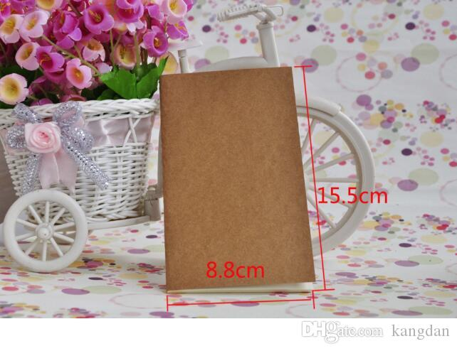 Mini pocket cowhide paper notebook vintage stationery wholesale notebook Kraft paper notepads pencil sketch drawing notes book