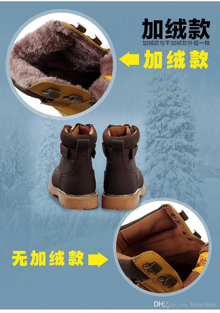 Stivali invernali da uomo in pelle da uomo Super Warm da esterno Impermeabili stivali da neve in gomma il tempo libero Martin Boots England Scarpe retrò uomo