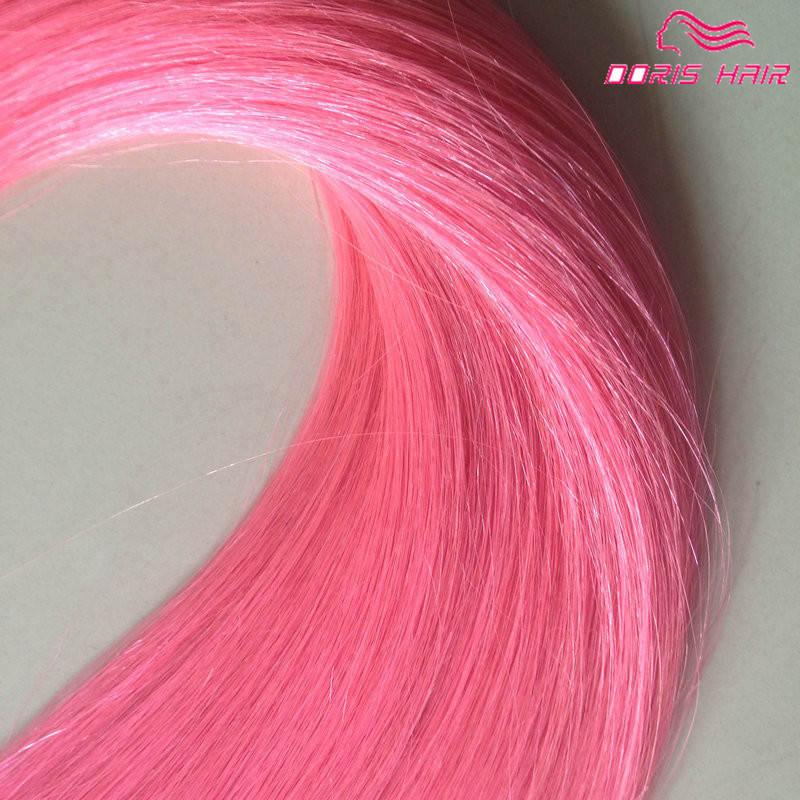 bande de vente chaude couleur Silky humain Tape droit Peruvian extensions de cheveux Extensions de cheveux DHL sans cheveux remy