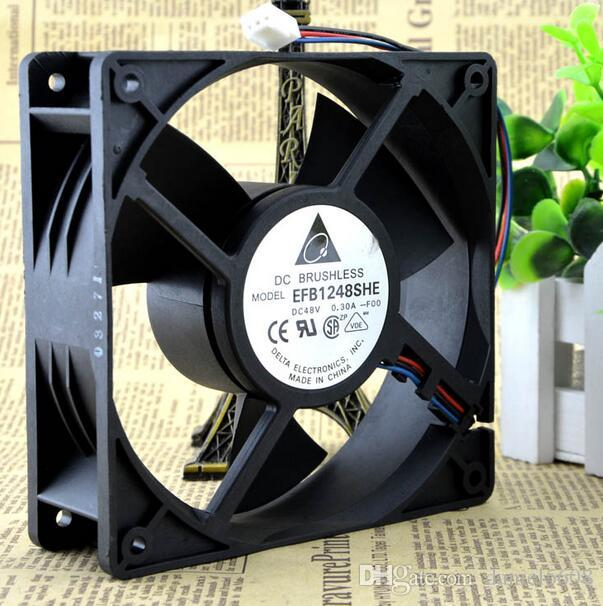 DELTA EFB1248SHE-F00 48V 0.30A 12038 12 cm 3 wire tachometer cooling fan