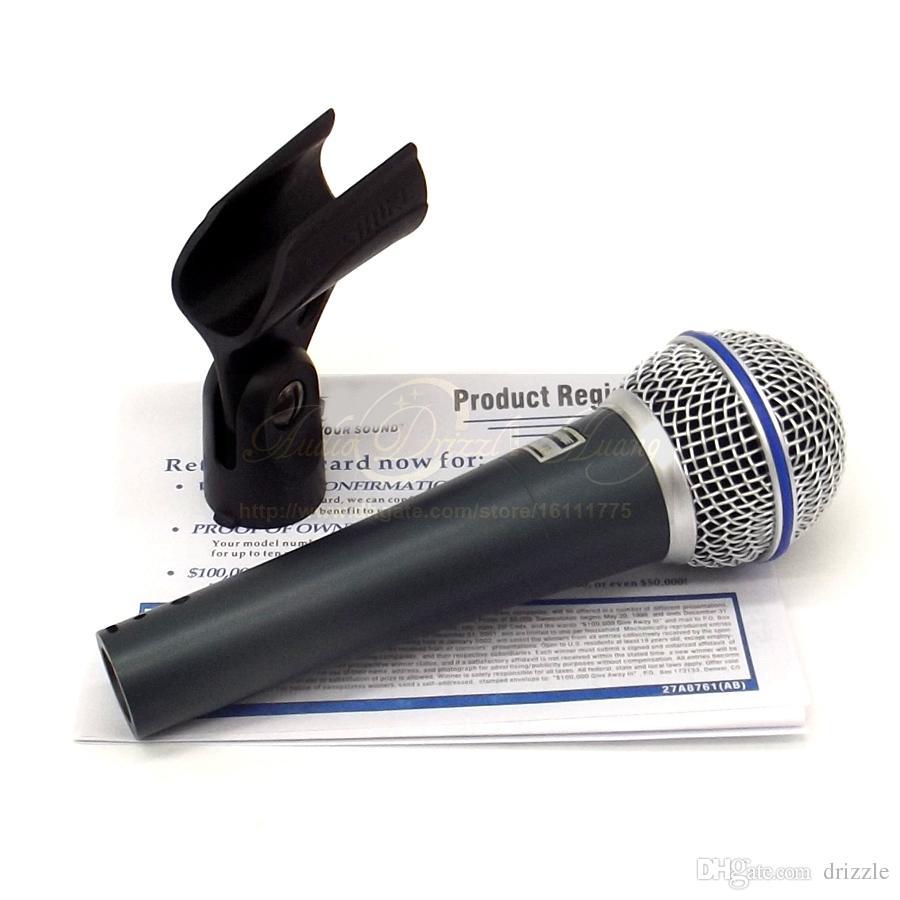 Kostenloser Versand Qualitätsberufsmetall Karaoke-Mikrofon Beta58A Superniere Dynamisches Gesangsmikrofon Wired MikeMic Microfone