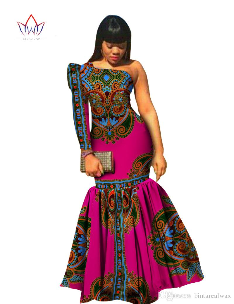 2016 Asymmetrical Party Dress Custom Made African Printed Dashiki ...