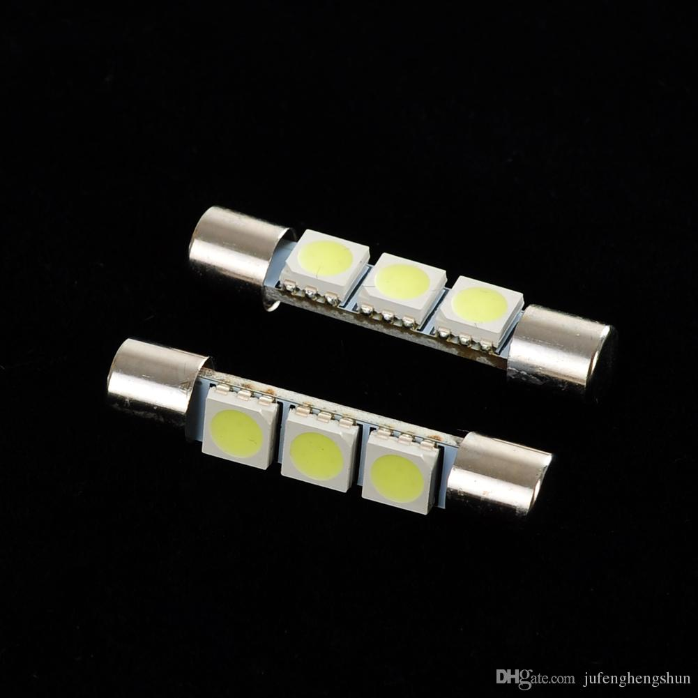 LED Car Light Bulb 31mm 3SMD 6641 12V White Fuse LED Bulb Sun Visor Vanity Mirror Light Universal LED Lamp