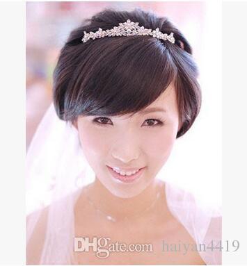 2020 Bling Bling Silver Red Wedding Accesorios de boda nupcial Tiaras Crystal Rhinestone Bandas de cabello Joyas de fiesta Mujeres Joyería de pelo Crowns Havanda