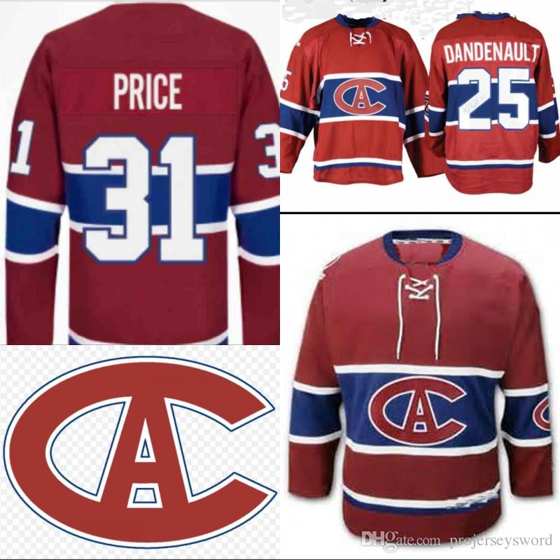 buy online 6505f b0f97 1915-16 Version Montreal Canadiens Jersey 6 Shea Weber 31 Carey Price 92  Jonathan Drouin 22 Karl Alzner Custom Hockey Jerseys Red