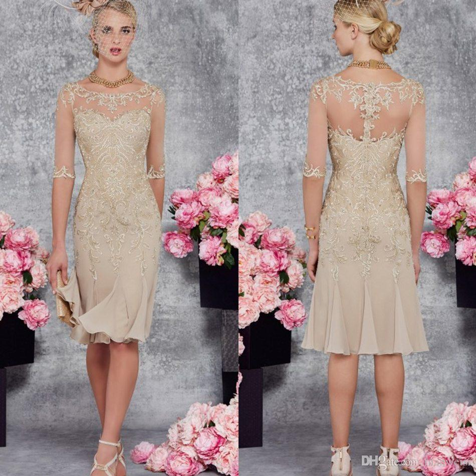 2017 Mother Of The Bride Dresses Cheap Half Sleeve Lace Wedding ...