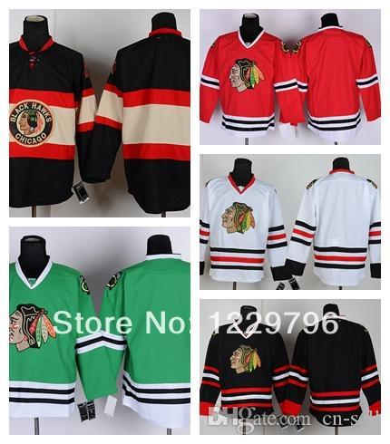 d80c97022 Men S Chicago Blackhawks Hockey Jerseys Blank Home Red Road White Third  Black Green Winter Cream Cheap Stitched Jerseys China UK 2019 From Cn Sell