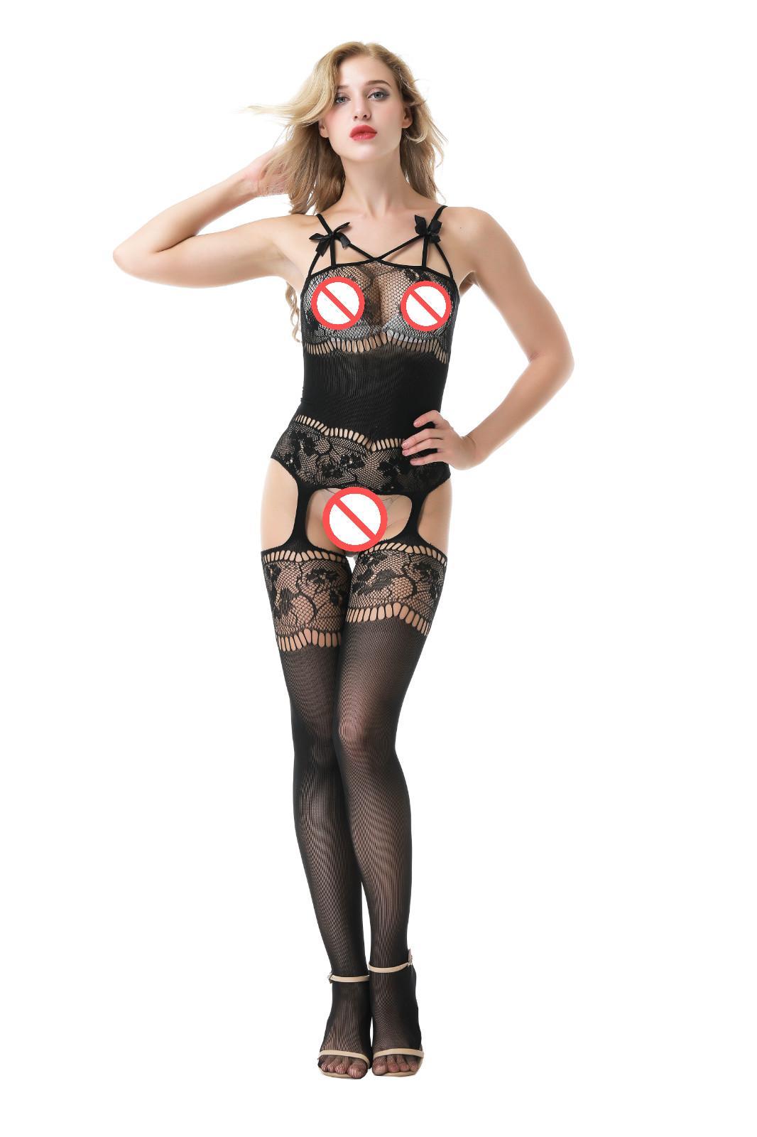 b91109a72b 2019 New Arrival Black Hollow Women Lingerie Sexi Socks Sexy Bodystockings  Dress Langerie Bow Underwear Lenceria Sexy Costumes Bodysocks Pjs From  Xiexiepei