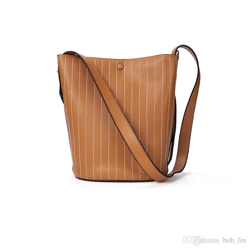 Shoulder Crossbody Bags for Women Messenger High Quality Real Genuine  Leather Bag Solid Hasp Woman Bucket Bag Online with  183.0 Piece on  Bob lin s Store ... 64e004f12af63