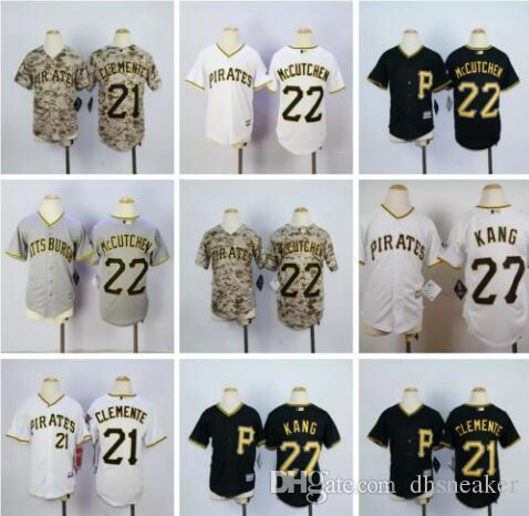 size 40 f7d81 190c2 pittsburgh pirates 21 roberto clemente black kids jersey