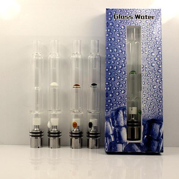 Pirex De Água De vidro Atomizador Cachimbo De Água Caneta Cachimbos E Cig Tanque De Erva Seca Cera Vaporizador De Vidro Shisha Atomizador Para EGO Evod Bateria 0266094-2