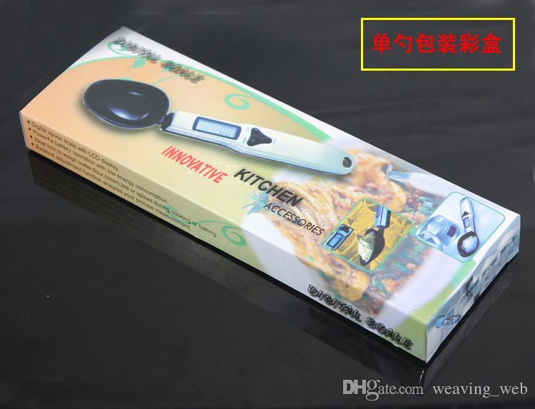3 couleurs cuillère numérique échelle LCD lait farine huile comestible échelle de mesure mini scoop électronique peseur