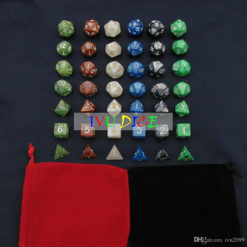 Cube 6 sided 1-6 DND D6 Table BOARD GAME Dungeons&Dragons Magic 6 six Colors bosons Party Children dices IVU