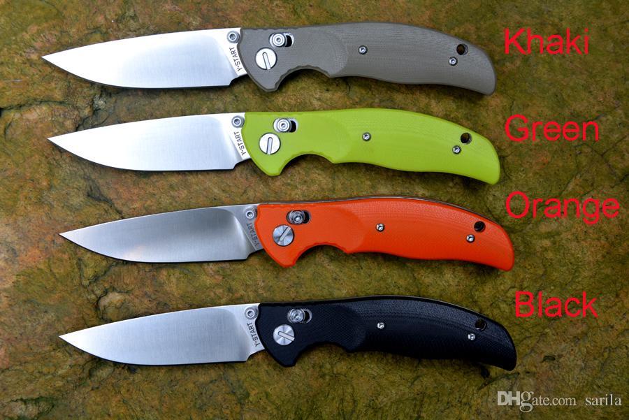 Y-START bloqueo axial cuchillo plegable satén cojinete de bolas hoja lavadora G10 regalo de navidad mango del cuchillo del cuchillo de envío de la gota