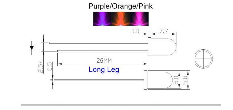 5mm viola rotonda acqua chiara LED lampada led diodi 5mm viola uv led lampade spedizione gratuita