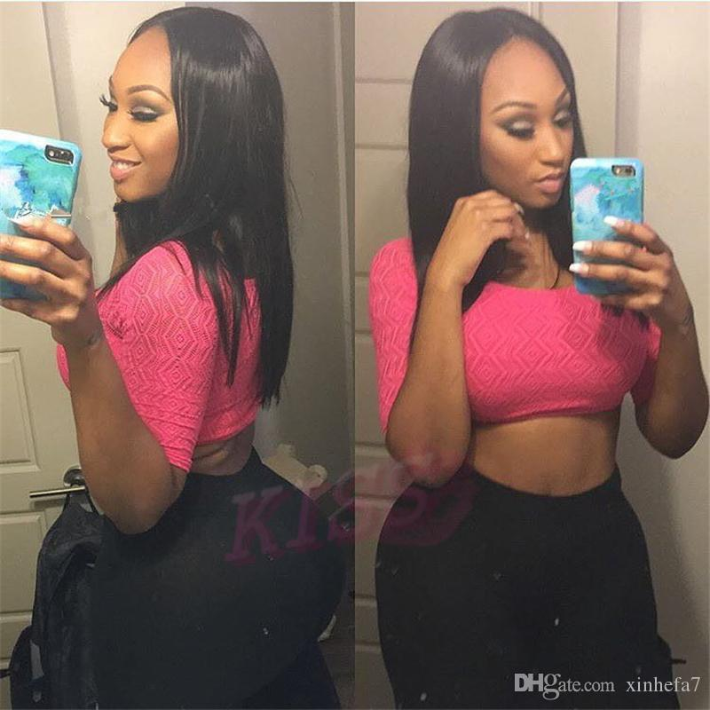 Lace Front Wig With Baby Hair Bleached Knots Silk Straight Virgin Brazilian Full Lace Human Hair Wigs For Black Women On Sale