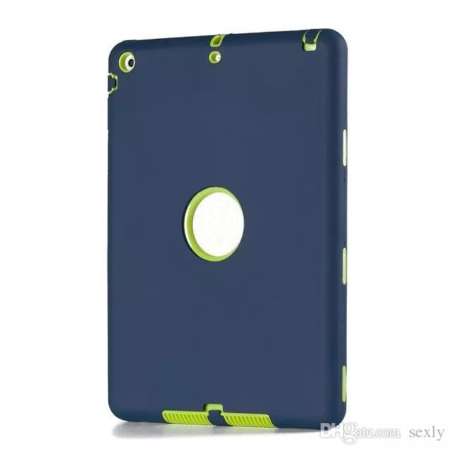 For ipad case defender shockproof Robot Case military Extreme Heavy Duty silicon cover for ipad 2 3 4 5 6 air mini 4 DHL
