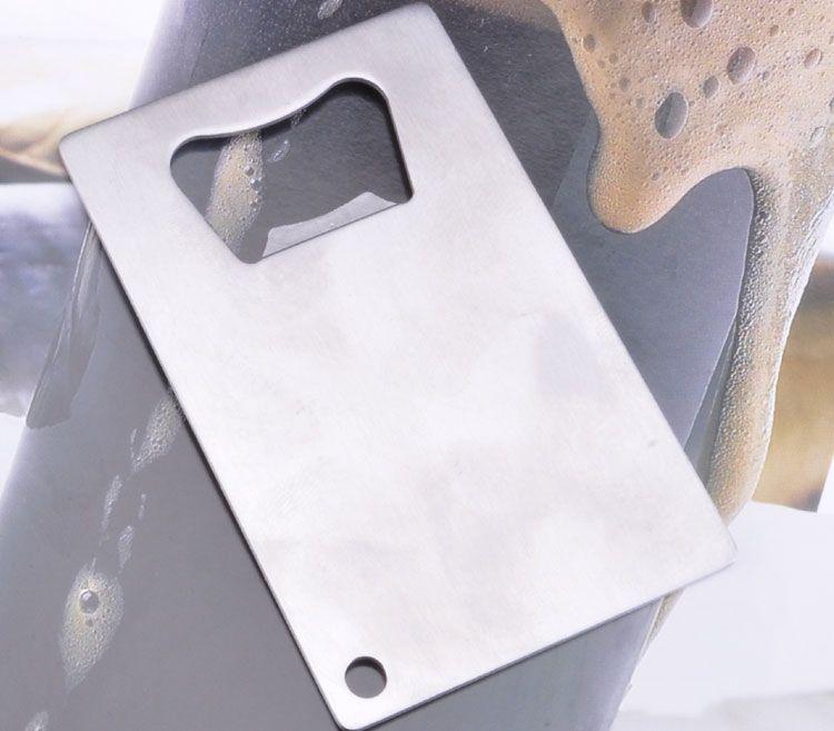 فتحت زجاجة مخصصة الحجم بطاقة الائتمان مخصص شعار الشركة محفورة / مطبوعة فتاحة زجاجات بطاقة الأعمال المعدنية