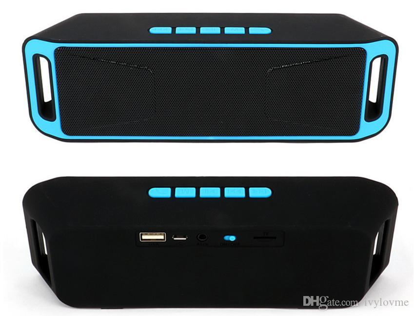NEW SC-208 Mini Portable Bluetooth Speakers Wireless Smart Hands-free Speaker Big Power Subwoofer Support TF and USB FM Radio
