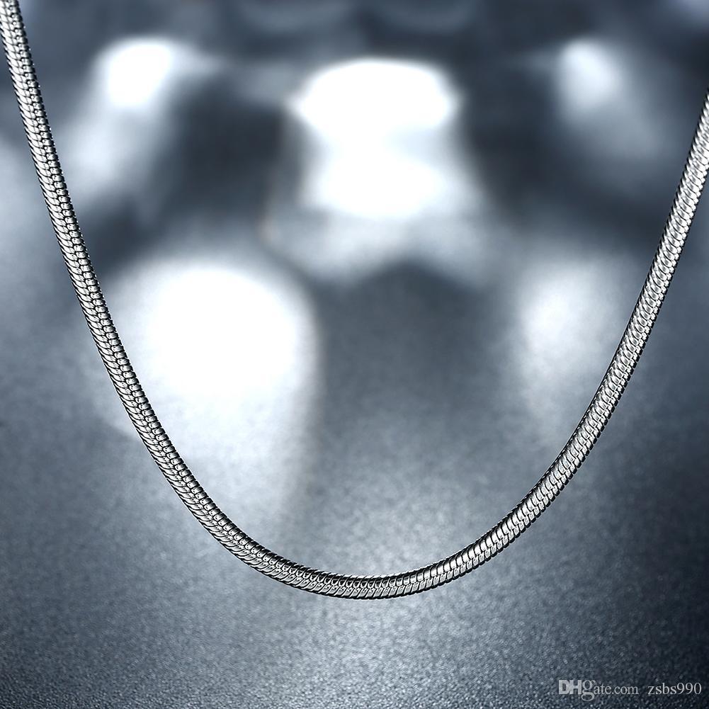 Collana di alta qualità in acciaio inossidabile 316L a catena serpente 2MM 16-24 pollici Fashion Factory Factory Outlet Spedizione gratuita C010