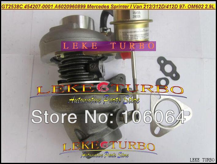 GT2538C 454207-0001 6020960899 For Mercedes-PKW Sprinter I Van 212D 312D 412D 2.9L OM611 141HP 2000-2006 turbocharger -