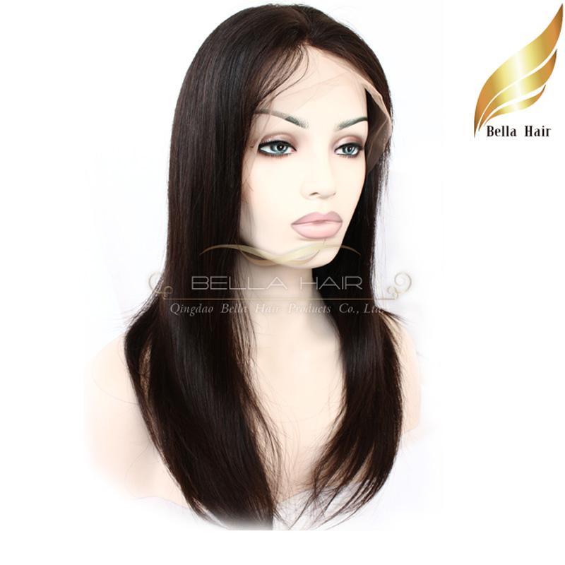 شعر مستعار الدانتيل الكامل الشعر البرازيلي شعر الإنسان الباروكات مع أمشاط وتمتد اللون الطبيعي حريري مستقيم متوسطة كاب بيلاهير