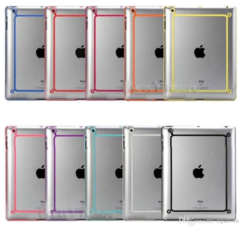 Bumper Case For Apple ipad mini 1 2 iPad ipad 2 3 4 5 Air Tablet TPU Silicone Rubber Cover Newest Fashion Frame Tablet Hybrid