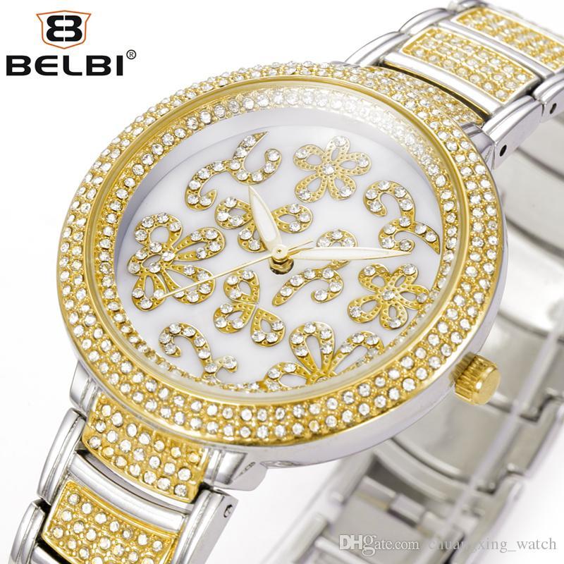 BELBI Marca Flor Jes De Las Mujeres Inicio De Lujo Cuarzo Reloj De Pulsera  Manera Ocasional Plata Oro T T Para Señora Wrist Watches Watch Sale From ... 2cb2451656cd
