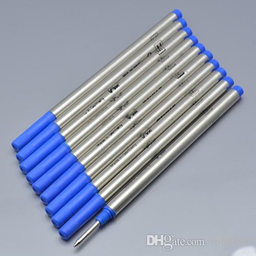 De haute qualité 10 pièces /  noir 0.7mm / recharge biue pour la papeterie stylo à bille écriture accessoires stylo lisse