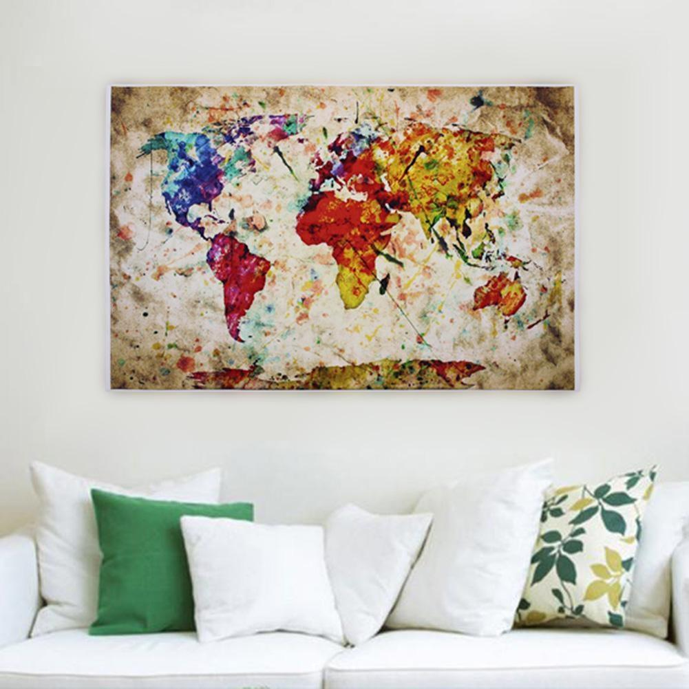 Non woven fabric poster entitled world map urban watercolor home non woven fabric poster entitled world map urban watercolor home decor free wallpapers backgrounds free wallpapers download from lushu1971 1508 dhgate gumiabroncs Images