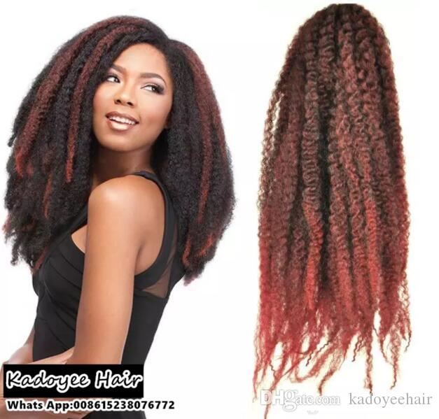Black Women Hair Styles 18inch Crochet Braids Afro Marley Braid