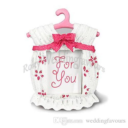 ¡Envío gratis! 40 unids / lote, lindo marco de fotos temático del bebé favorece a los favores del cumpleaños del niño / niña