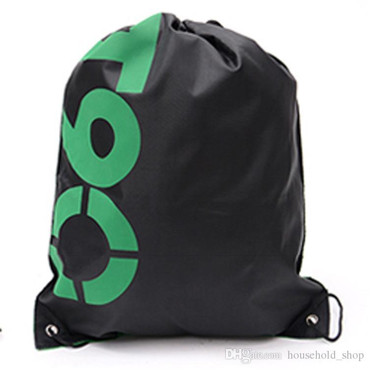 Sacchetto di immagazzinaggio di viaggio portatile domestico 2018 Sport all'aria aperta palestra escursionismo borsa zaino con coulisse Oxford tessuto abbigliamento scarpe organizzatore sacchetto