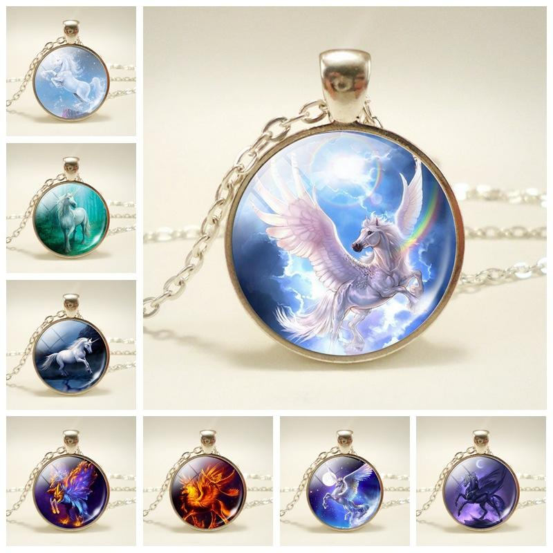 Wholesale horse necklace jewelry unicorn gem pendant necklace wholesale horse necklace jewelry unicorn gem pendant necklace sweater chain accessories for women children friendship necklaces lariat necklace from aloadofball Image collections