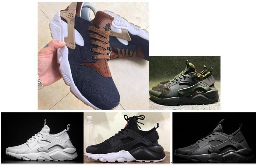 bfed902ac841 2019 2018 High Quality Huarache ID Custom Breathe Running Shoes Men Women  Denim Huaraches ID Sneakers Triple Navy Blue Tan Jogging Athletic Train  From ...