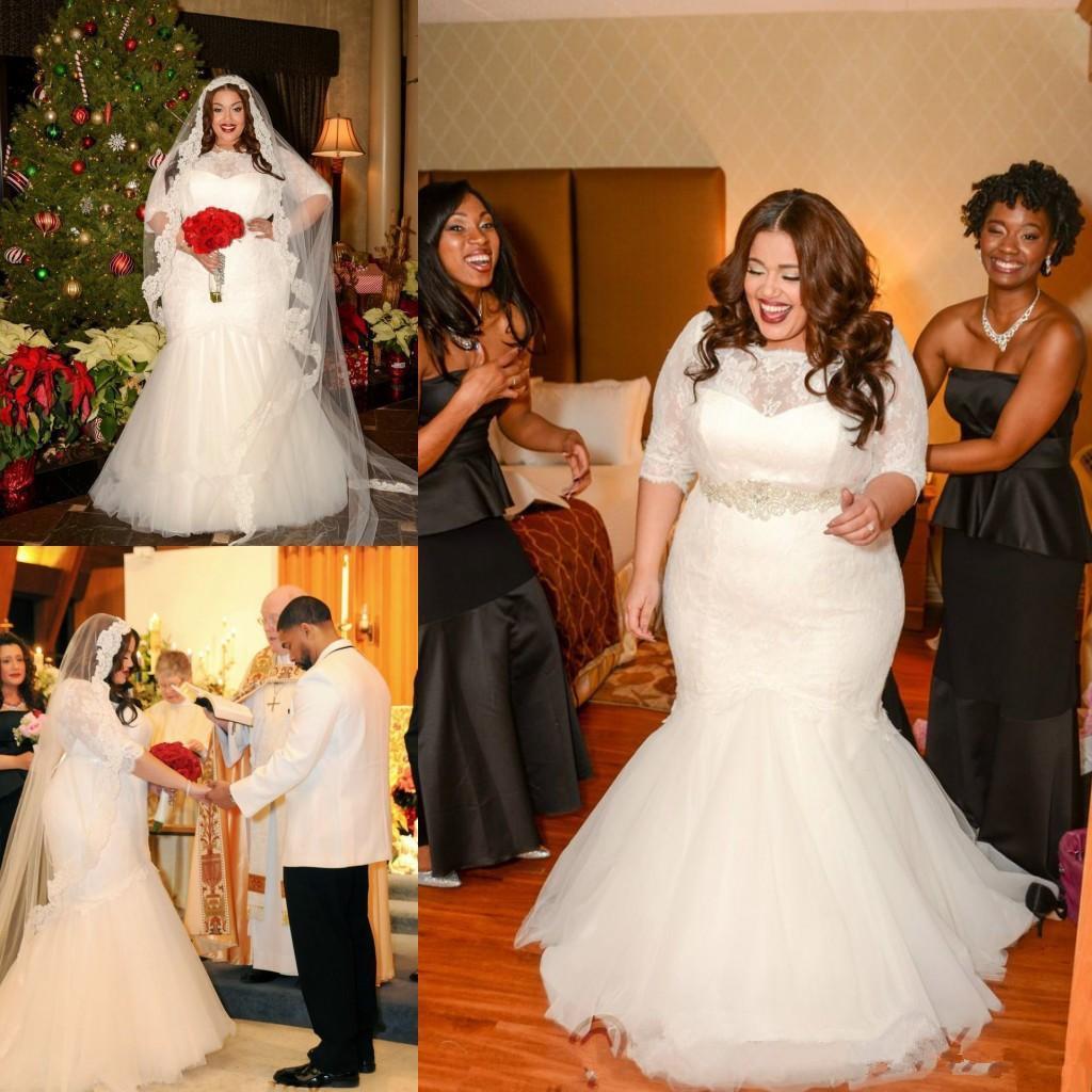 Wedding Dresses Trumpet Style 2016 Plus Size Mermaid