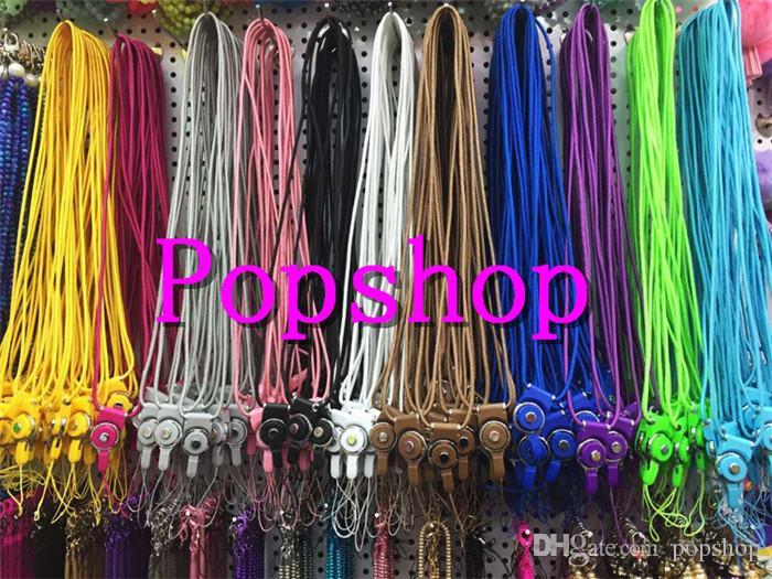 Nuovo 50 pezzi colore misto moda diviso in due pezzi fibbia anello cordino telefono mobile shell telefono corda corda collo creativo