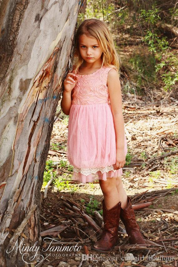 Blush Pink flower girl dress, lace baby dress, rustic flower girl dress, country flower girl dress, lace girls dresses, flower girl dress
