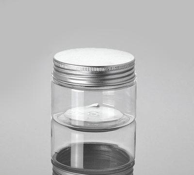 120g Transparent Pet Cream Bottle With Alu Lid Pet 4 Ounce Cosmetic