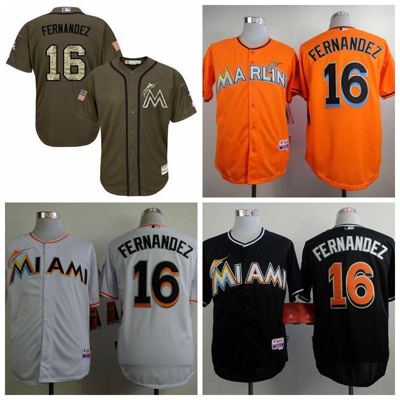 57876c48a ... 2017 Miami Marlins 16 Jose Fernandez Jersey Cheap Baseball Jerseys MenS  Baseball Uniforms Black White Orange ...