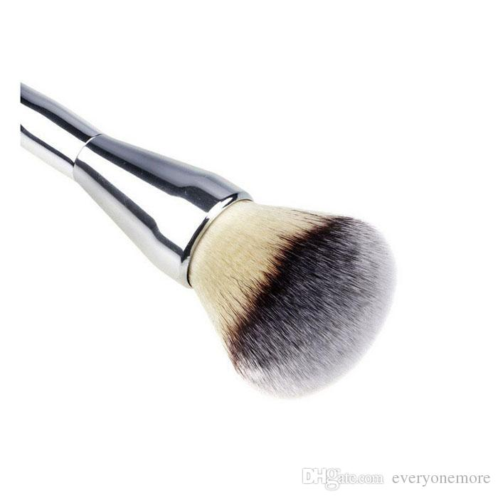 New High Quality Professional Makeup Brushes Flawless Blush Powder Brush Silver Metal Color cosmetic kit
