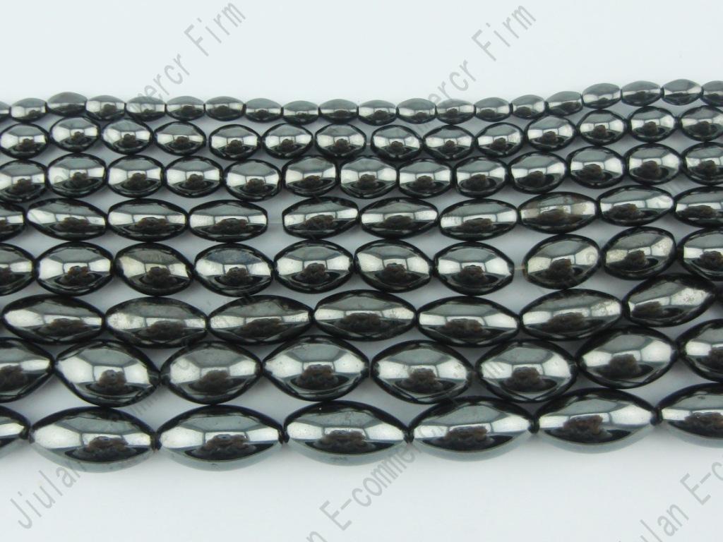 Großhandel natürliche magnetische Hämatit-ovale Reis Perlen 38cm pro Strang Qualität Stein Lose Perlen Schmuck machen Fabrikpreis