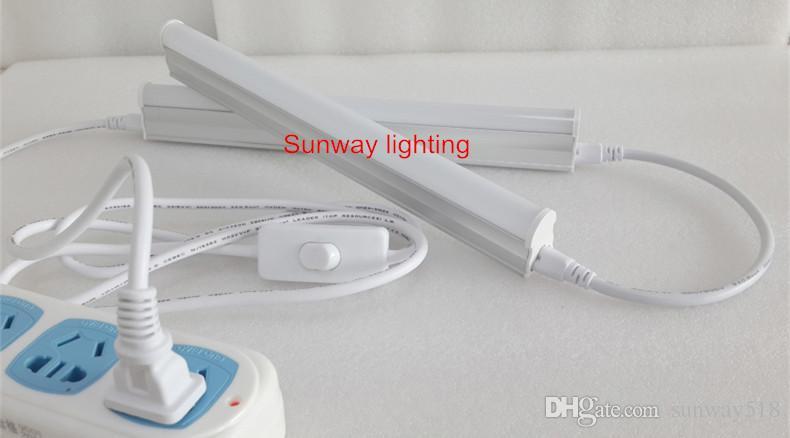 Cable de 6 pies para tubos integrados T8 T5 luces conectadas Cable de alimentación del conector con interruptor Enchufe de EE. UU.