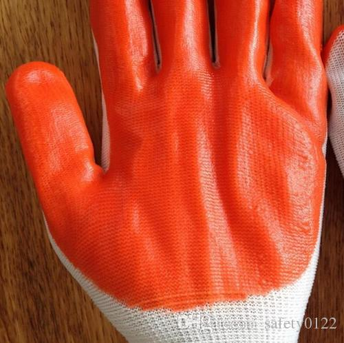 PVC Palm Coated Protective Industrial Hand Protection Glove Nylon PVC Glove Palm PVC Dipped Security Working Glove