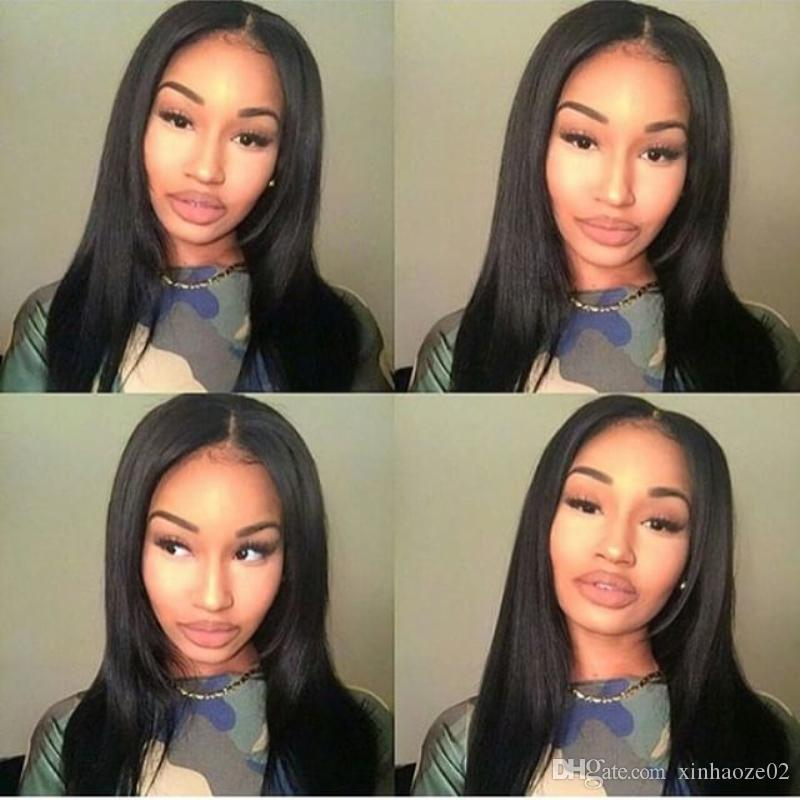 2016 Wholesale Price Straight Full Lace Human Hair Wigs Glueless Full Lace Front Wigs With Ponytail Brazilian Human Hair Wigs