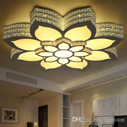 2018 Led Modern Minimalist Ceiling Lights Lotus Shape Led Ceiling L&s Iron Acrylic Ceiling Light For Living Dinning Room Wholesales From Lamloon ... & 2018 Led Modern Minimalist Ceiling Lights Lotus Shape Led Ceiling ...