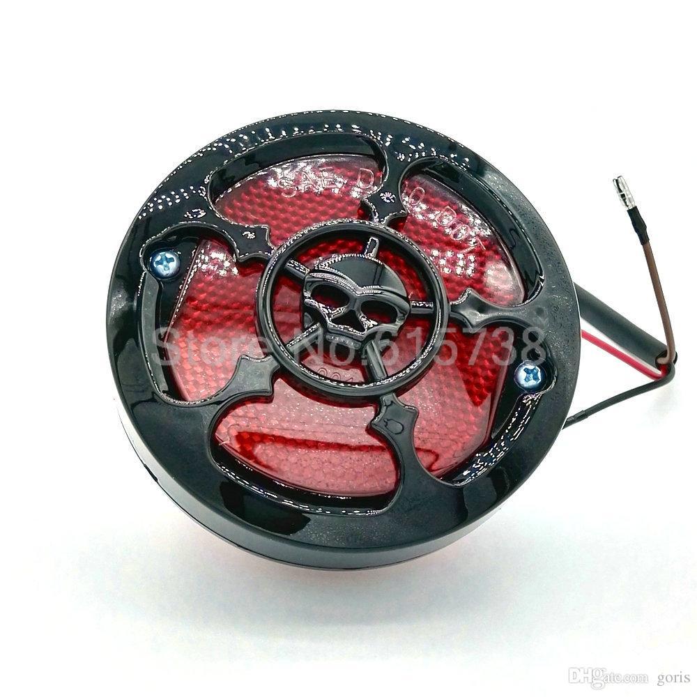 할리 Bobber에 대한 새로운 블랙 유니버설 오토바이 리어 테일 스톱 브레이크 라이트 번호판 라이트 램프 쵸퍼 카페 레이서