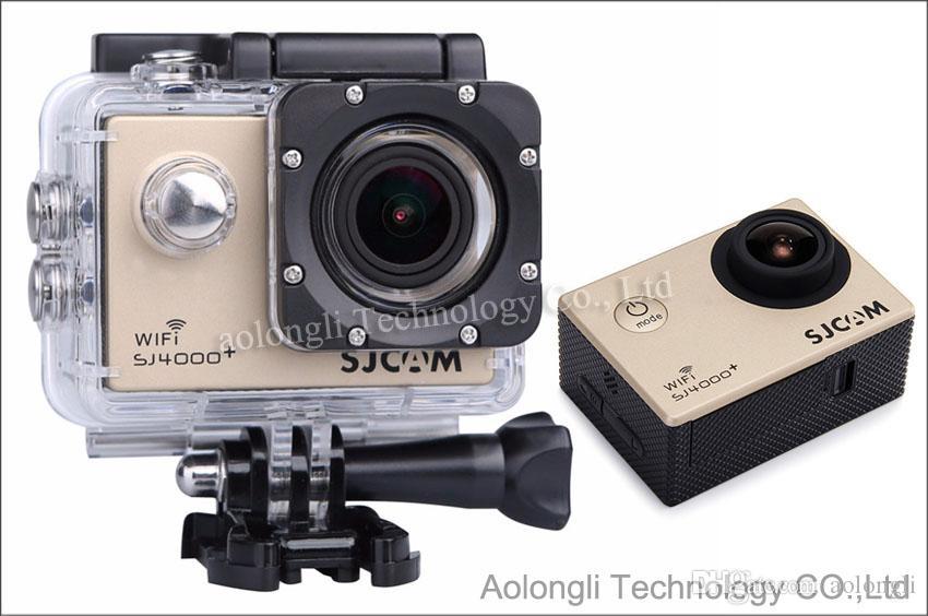 Original SJCAM Wifi Action Caméra SJ4000 Plus SJ4000 + 2K Caméscopes Sport HD 1080 P 170 Objectif Gyro Étanche Sport Caméras Casque Cam Car DV