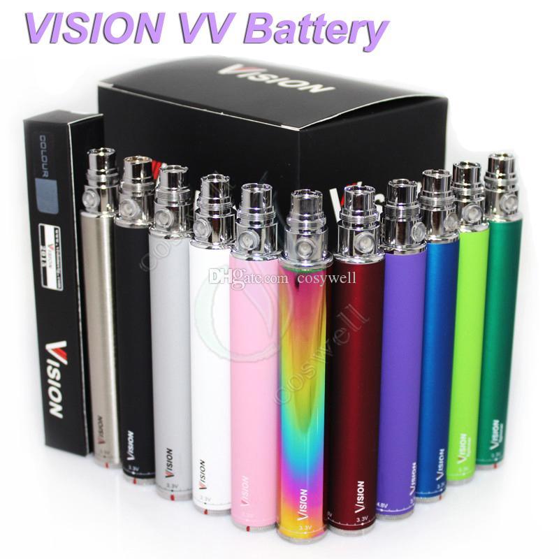 Vision Spin electronic cigarette ego c 3.3-4.8V Variable Voltage VV battery 650 900 1100 1300 mAh for e cig ego atomizer DHL